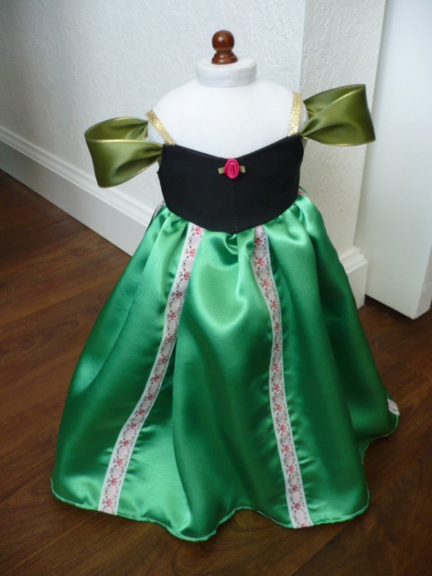 "Anna Frozen Inspired Coronation Dress for 18"" Doll"
