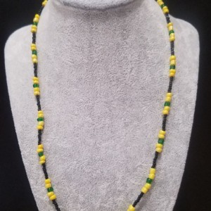 yellow and black necklace