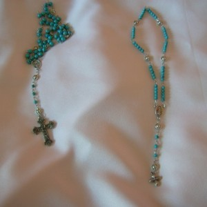 Earth, Sun and Stars American Girl Doll and Little Girl Rosary Bead Set