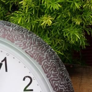 "Wall Clock with Unique Hand Drawn ""Maze"" Border"