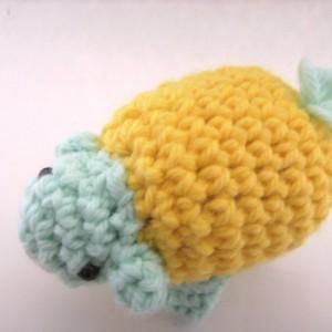 Crochet Sheep Lamb Amigurumi Plush Toy Yellow