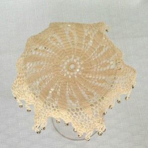 Petal Beverage Veil II in Ecru