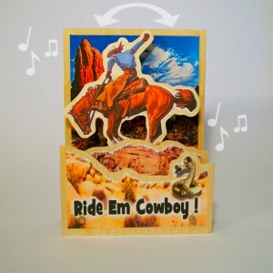 Music Box- Animated Cowboy and Bucking Bronco