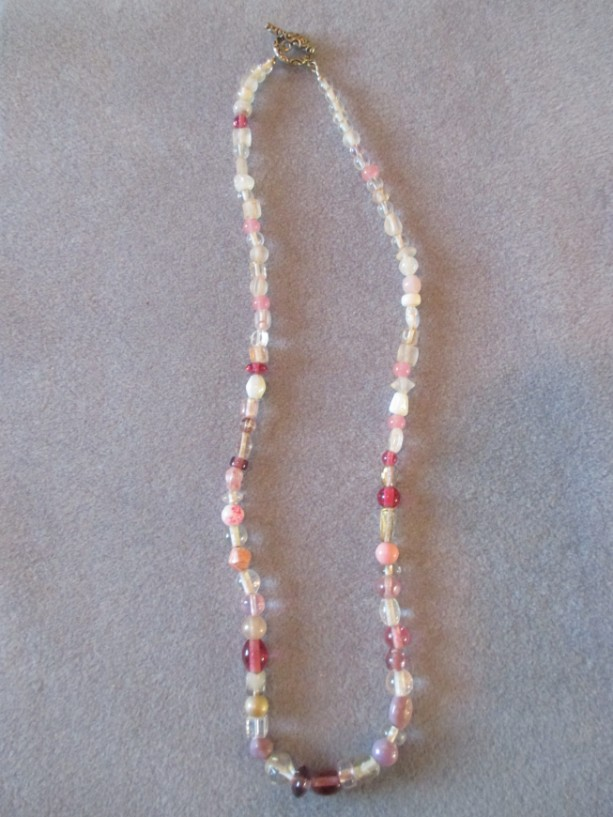 Cotton Candy Beaded Necklace