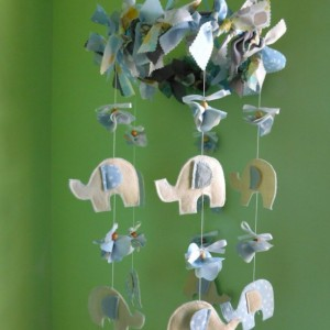 Ready to ship baby mobile - Dreaming Elephants - Blue Baby Mobile - Modern Baby Room - Nursery Decor - Modern Mobile - Custom Baby Mobile