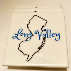 Custom Coasters-Non Stick Coasters-Personalized Coasters-Long Valley NJ Coasters-Ceramic Tile Coasters-Drink/Barware-Gift Ideas-Housewarming