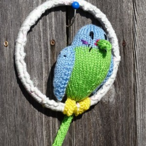 Parakeet , Budgie, Stuffed Bird, Knitted Bird, Parrot, Plush Bird, Jungle Bird, Hand Knitted Budgie