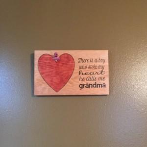 Handmade Wall Mounted Grandma's Heart Picture Holder