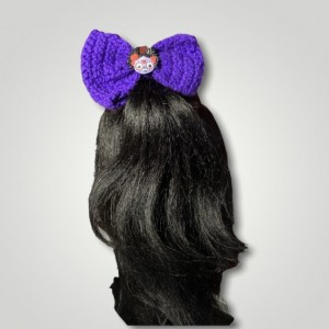 Purple Face Hair Bow