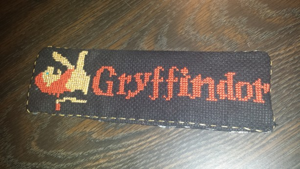 Gryffindor Crossstitched Bookmark