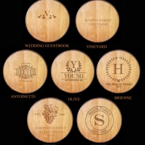 BARREL ART Collection - Custom Engraved Wall Art - Personalized Wine Barrel Head / Made from reclaimed wine barrels - 100% Recycled!