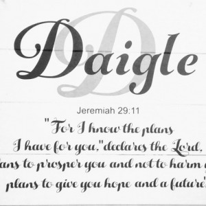 Family Name Sign Personalized - Christian wall art - Christian wedding gift -  Jeremiah 29 11 - Closing Gift - Christmas Gift for Couple