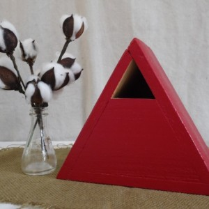 Red Birdhouse, Red Cedar Triangle Birdhouse, Red Cedar Birdhouse, Cedar Bluebird House, Painted Cedar Birdhouse