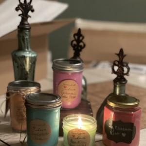 10 Oz handmade soy candles
