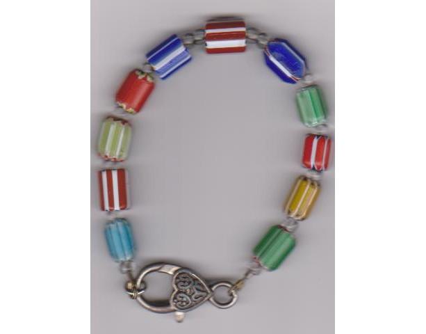 "Peppermint Rainbow Ladies 7"" Bracelet"