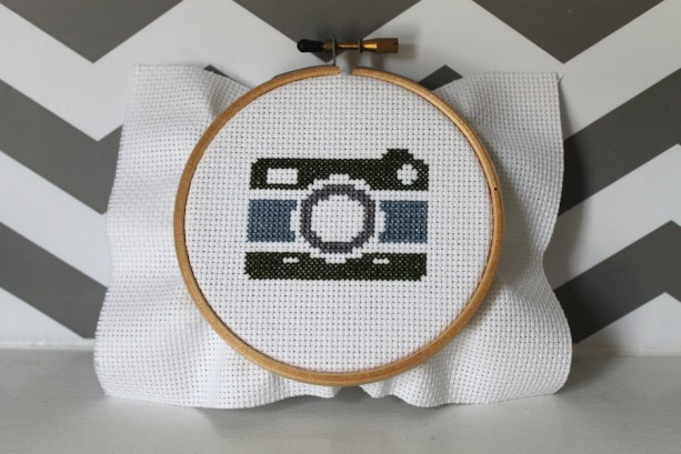 Vintage Camera Cross Stitch Kit Pattern Needlecraft