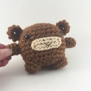 Mini amigurumi monkey, amigurumi, crochet monkey, tiny monkey, monkey, kawaii, small monkey, monkey plush, monkey plushie, under 15,brown