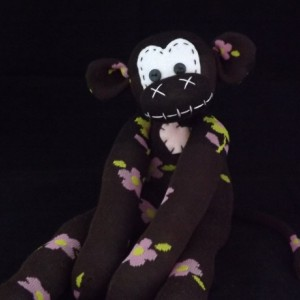 Sock monkey : Olivia ~ The original handmade plush animal made by Chiki Monkeys