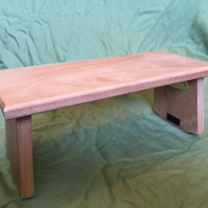 Handmade Meditation bench - Mahogany with folding legs *FREE SHIPPING*