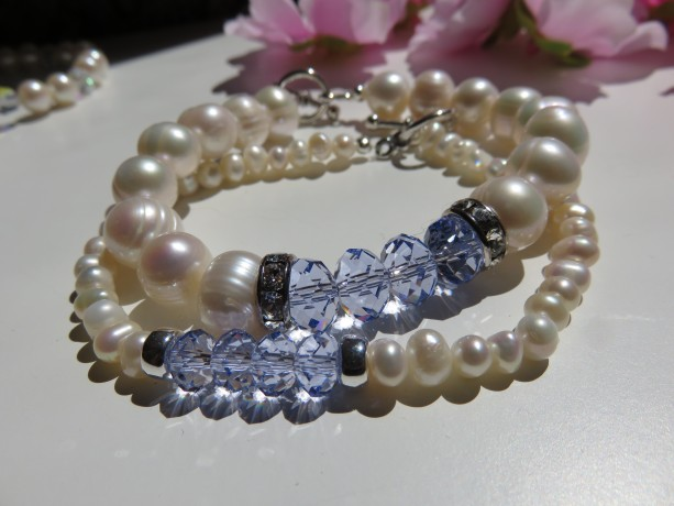 Mini Pearls in Provence Lavender Bracelet