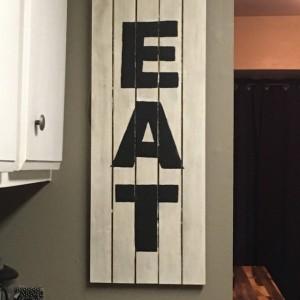 Rustic 'EAT' Sign