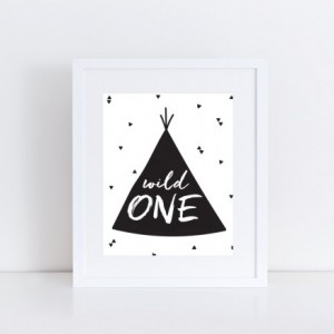 Wild One 8x10 Sign DIGITAL PDF FILE Print your own sign birthday party decor printable teepee boho birthday home decor mod