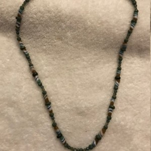 """African Influences handmade beaded necklace 27"""" long"""