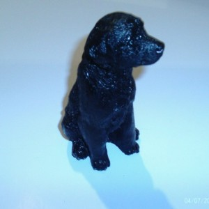 Black Dog Statue