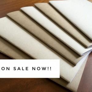 Kraft Notebook 5 Pack -5.25 x 8.25 kraft brown notebook diary journal bulk notebooks party favors sketchbook party favor wedding blank
