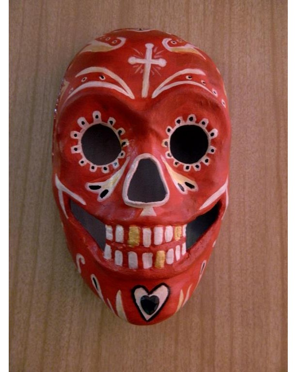 Day of the Dead Sugar Skull Mask Wall Hanging, Sugar Skull, Handmade,  OOAK
