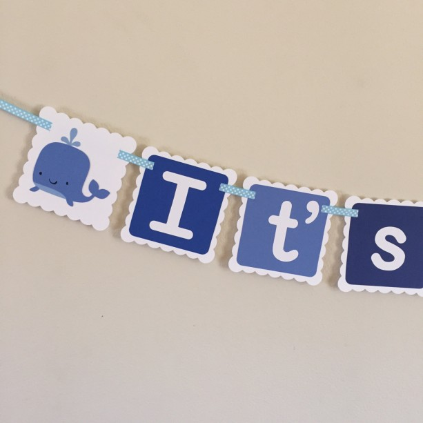 it s a boy banner it s a boy whale banner baby boy baby shower
