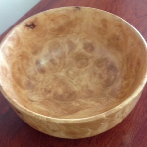 Silver Maple burl Bowl