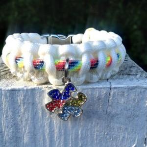 Autism Awareness Charm Paracord Bracelet