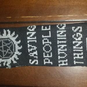 Supernatural Crossstitched Bookmark