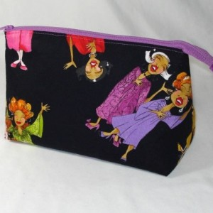 Loralie Designs - CHURCH LADIES - Sing It Sister Cosmetic Bag, Bridesmaid Gift, Holiday Gift, Toiletry Bag, Pencil Case, Travel Bag