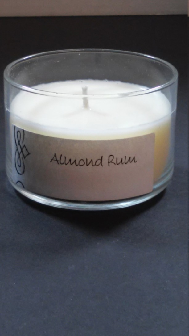 Almond Rum 4oz Scented Candle by Sweet Amenity Fragrances