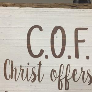 """Sign """"C.O.F.F.E.E"""""""