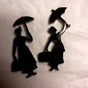 mary poppins charms ,phone charms, laser cut charms