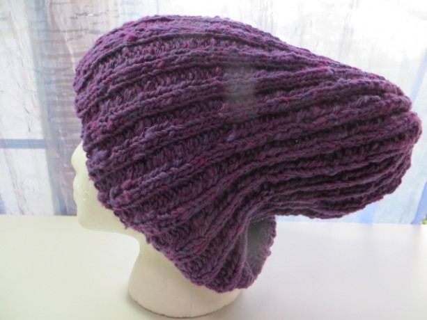 64fc5c9b9e9 ... Beanie Hat Watch Cap Hand Knitted with Hand Spun 100% Wool - KINKAID S  LUPINE by ...