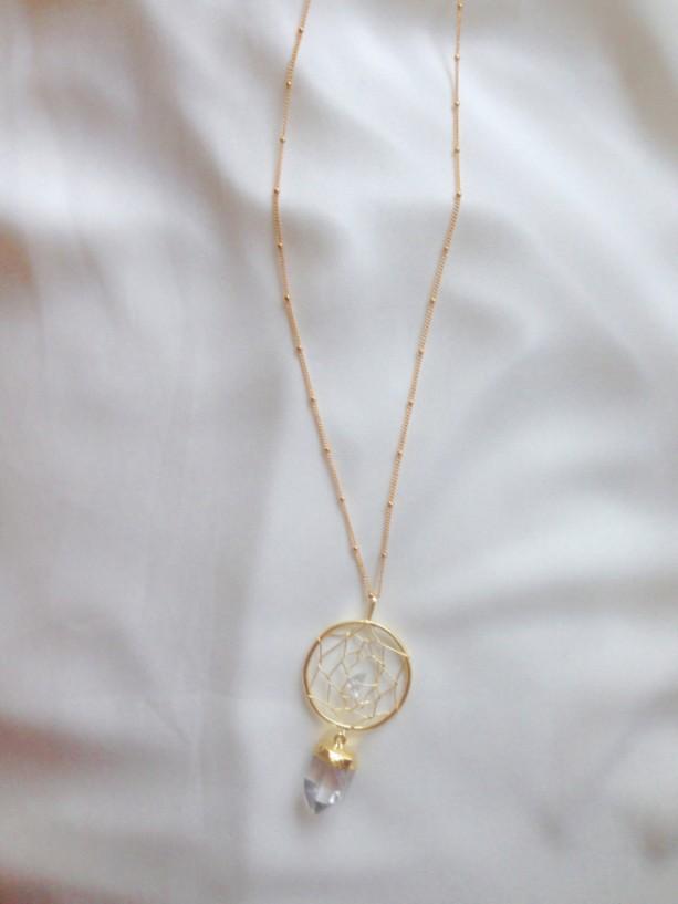 Gold dream catcher necklace dream catcher necklace gold quartz gold dream catcher necklace dream catcher necklace gold quartz crystal necklace quartz pendant mozeypictures Images