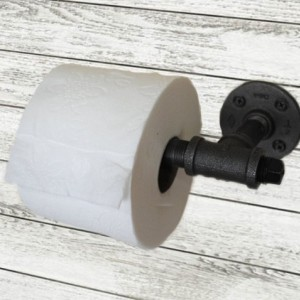 Industrial Steel Pipe Toilet Paper Holder.  Urban Industrial