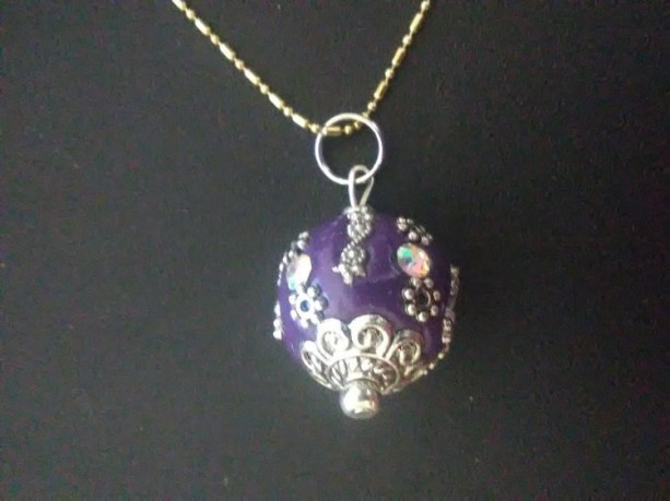 Fancy Purple Pendant Necklace