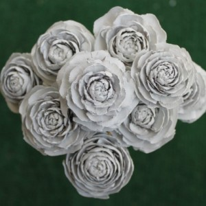 9 Customizable Hand-Painted Cedar Rose Pine Cone Flower Bouquet