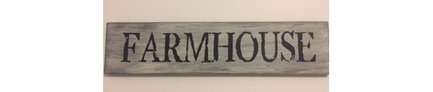 Handmade 'Farmhouse' Sign