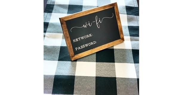 WiFi Chalkboard Sign