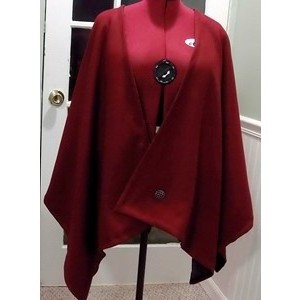 Red Wool Cape