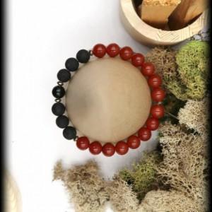 Carnelian and Lava Rock Diffuser Bracelet for Determination