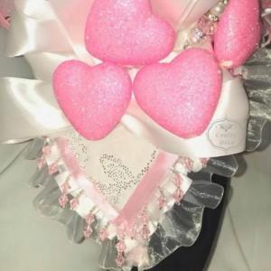 Valentines Day Pink Love Fascinator/Headband/Headpiece