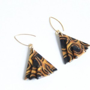 Polymer clay earring