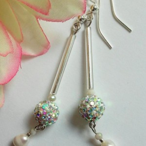 Aria ~ Beaded Shoulder Duster Earrings